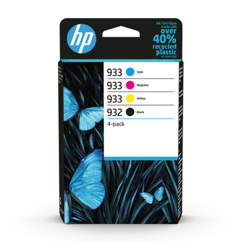 HP Original 932 Black 933 Cyan Magenta Yellow Ink Cartridge 6ZC71AE