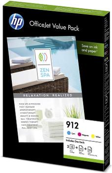 HP Original 912 Ink Cartridge Office Value Pack 6JR41AE