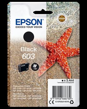 Epson original 603 black ink cartridge C13T03U14010
