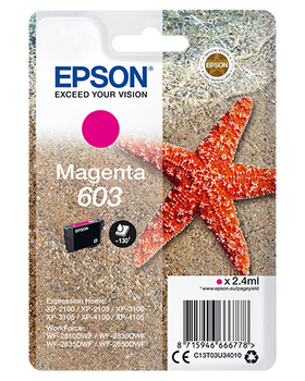 Epson original 603 magenta ink cartridge C13T03U34010