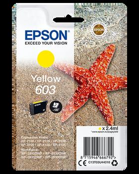 Epson original 603 yellow ink cartridge C13T03U44010