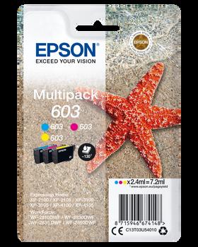 EPSON 603 Cyan Magenta Yellow Ink Cartridge C13T03U54010