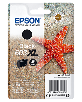 Epson original 603XL black ink cartridge C13T03A14010