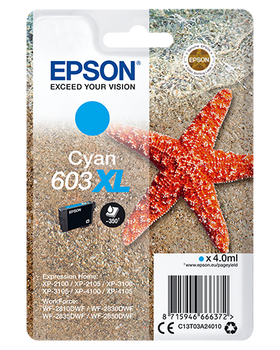 Epson original 603XL cyan ink cartridge C13T03A24010