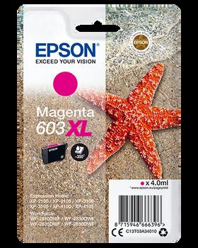 Epson original 603XL magenta ink cartridge C13T03A34010