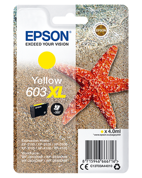 Epson original 603XL yellow ink cartridge C13T03A44010