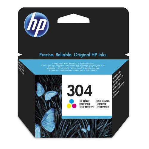 Original HP 304 Colour Ink Cartridge N9K05AE boxed