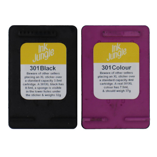 Refilled HP 301 Black & Colour Ink Cartridge CH561EE CH562EE