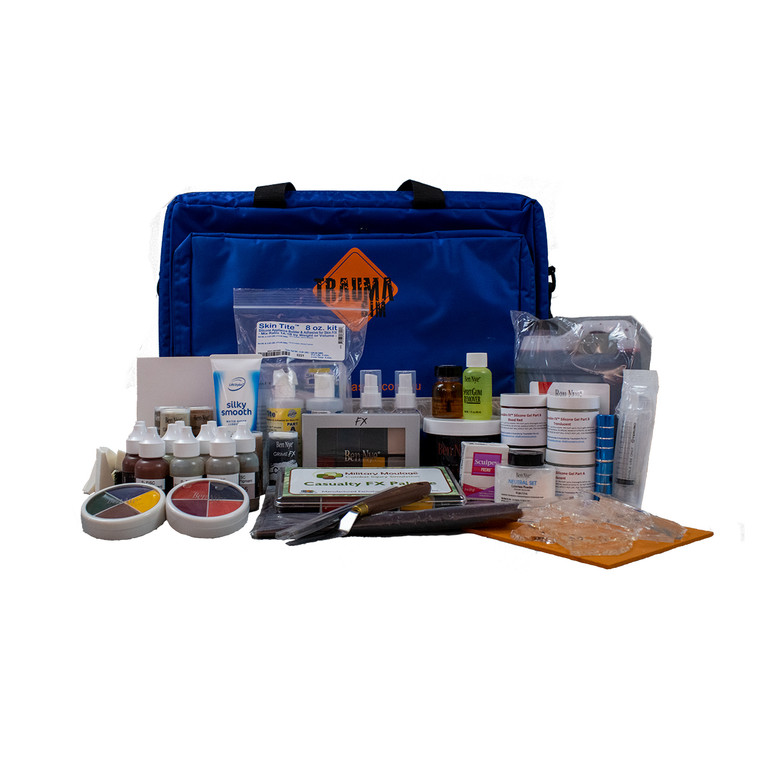 Learn the art of creating simulated wounds and injuries with TraumaSim Group. Using professional grade brands and products, we'll have you applying moulage like a master in no time with our complete kits! All items are available for individual sale.