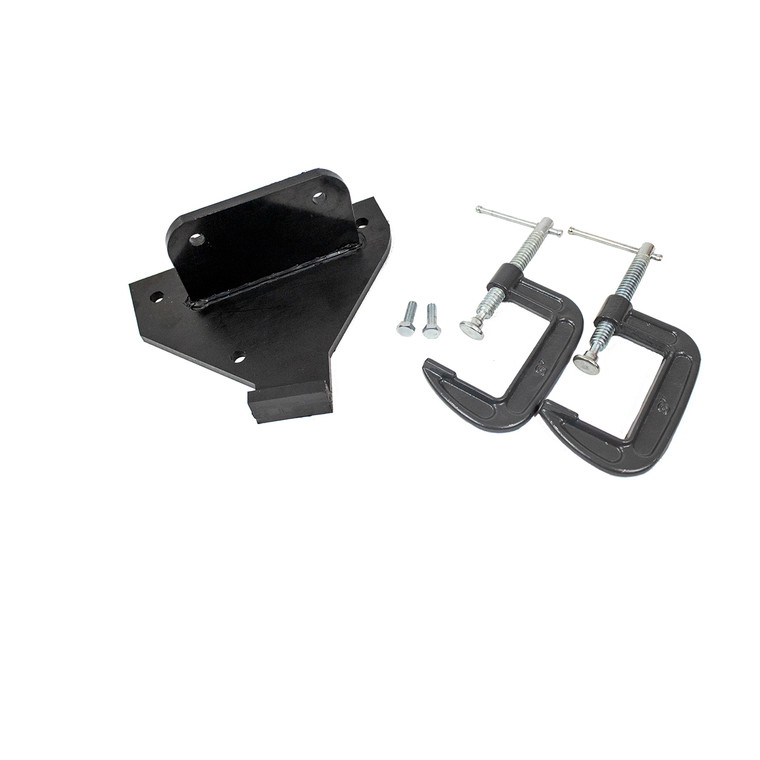 This bracket system can be used to secure the TraumaSim Haemorrhage Control Lifecast Arm (HCS01) arm to a bench or table. It includes 2 x hex-head bolts and 2 x g-clamps.