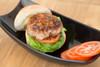 Thai style pork burger with Pork Jam