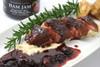 Crispy skin duck breast with Ham Jam.