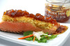Couscous crusted salmon with pork jam.
