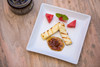 Halloumi mint and watermelon fingers with Lamb Jam