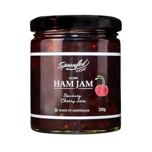 Ham Jam, savoury cherry jam with pork loin steak