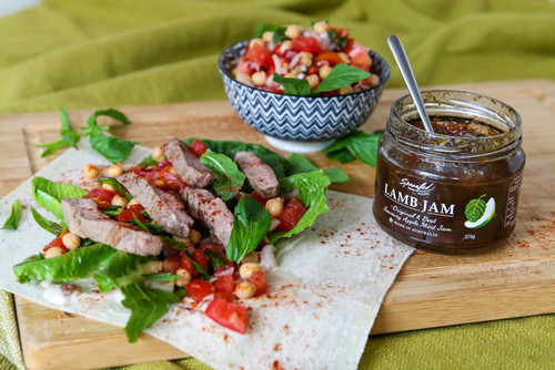 Moroccan lamb & chickpeas wrap with Lamb jam