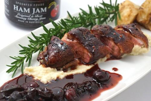 Crispy Skin Duck Breast with Ham Jam