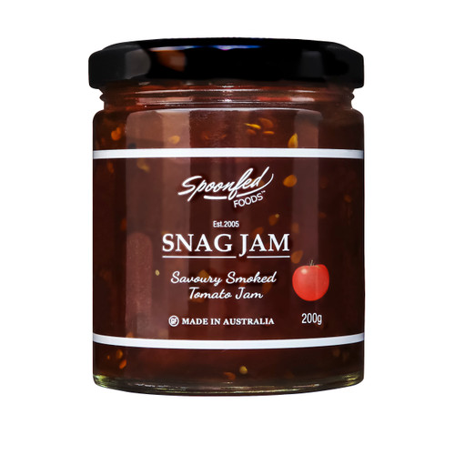 Smoked Roma Tomatoes enlivened with a hint of Chilli, enjoy with any grilled meat and don't hold a sausage sizzle without it. Please note this is a new jar size of 200g.