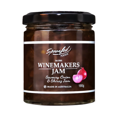 Red Onion & Shiraz Jam, perfect with many foods and amazing with cheese.