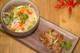 Thai style pork meatballs with rice noodle salad and Pork Jam