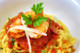 Prawn and chorizo pasta with Garlic Jam