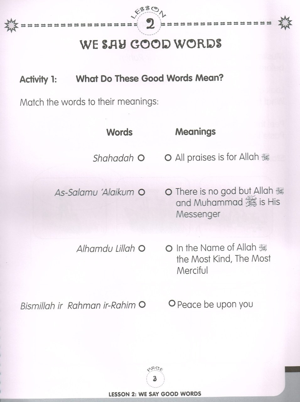 Our Prophet Muhammad(s) Workbook Grade 2 (Life in Makkah, New Edition)