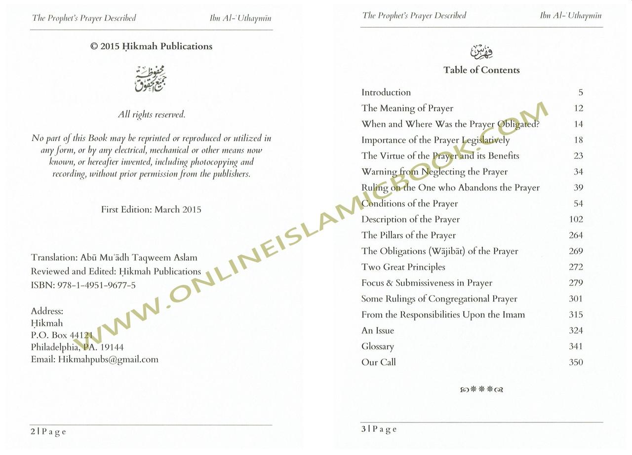 The Prophet's Prayer Described By Imaam Muhammad bin Saalih al-'Uthaymeen