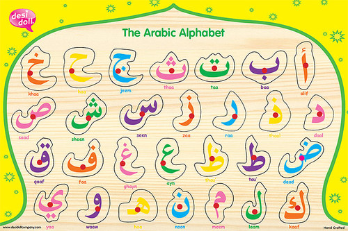 The Simple Arabic Alphabet Wooden Puzzle