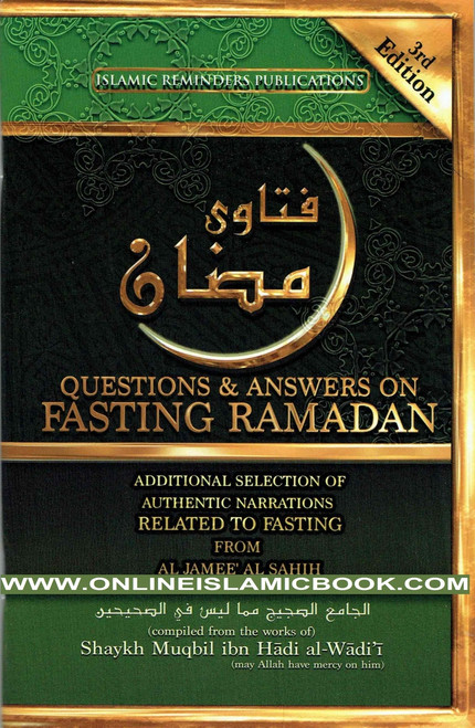 "Questions and Answers on Fasting Ramadan The fact that Ramadan is a blessed month in which Muslims far and wide are in need of any and every form of encouragement that will allow them to seek nearness to their Lord by correctly fasting and standing in this month, The Prophet (p.b.u.h.) said ""Whoever fasts Ramadan with faith and seeking a reward, his previous sins will be forgiven."""