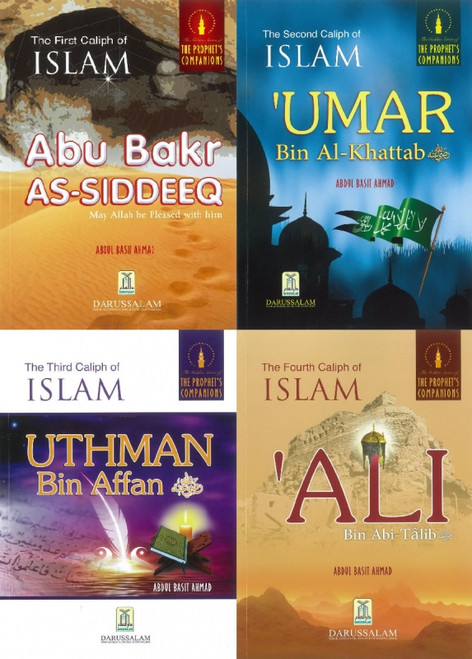 The Golden Series of The Prophets Companions: Four Rightly Guided Caliphs Bundle Aby Bauk Saddique, Umar Bin Al Khatab, Uthman Ibn Affan & Ali Ibn Abi Talib