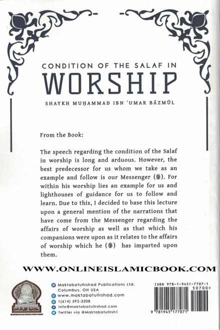 Condition Of The Salaf In Worship,9781945177071,