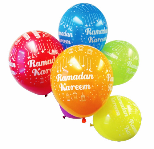 Ramadan Kareem Balloons (Pk of 10) Iftar Party Decor Eid Gifts Children Balloon