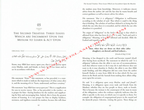 Explanation of the Three Fundamental Principles by Shaykh Salih Al Fawzan