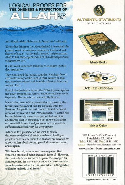 Logical Proofs for the Oneness & Perfection of Allah,9781467559591,