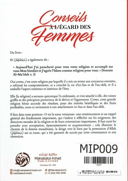 Conseils À L Égard Des Femmes ,French language,advice on women in french language,9781641367813,