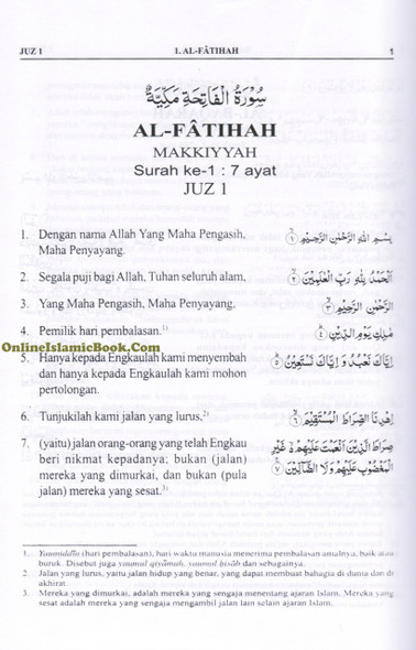 Quran In Indonesian Language (AL Quran Dan Terjemahnya) Arabic To Indonesian Language