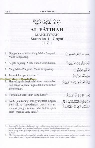 Quran In Indonesian Language (AL Quran Dan Terjemahnya) Arabic To Indonesian Language