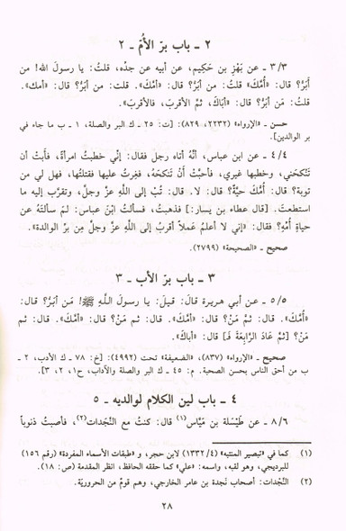 Sahih Al Adab Al Mufrad (Arabic Only)