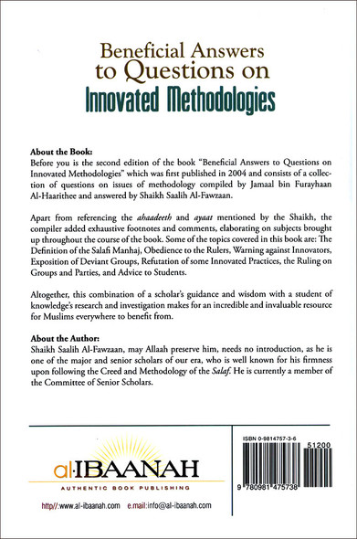 Beneficial Answers to Questions on Innovated Methodologies