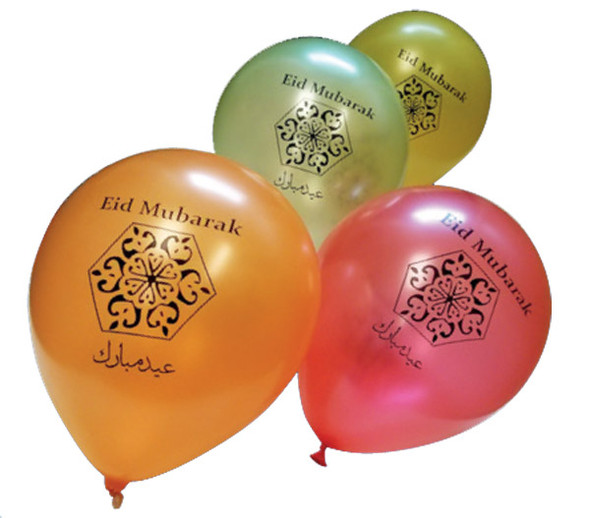 Happy Eid Balloons pack of 10 Helium Quality Balloons