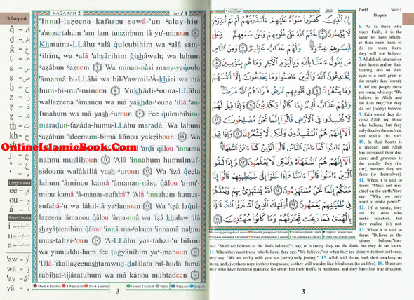 Tajweed Quran With English Translation & Transliteration