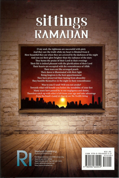 Sittings During the Blessed Month of Ramadan,9780984660049,