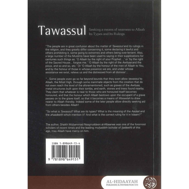 Tawassul,Seeking A Means Of Nearness To Allaah Its Types and Its Rulings By Shaykh al-Albani,9781898649151,