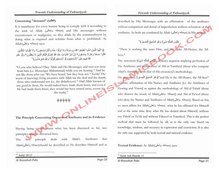 Towards Understanding of Tadmuriyyah