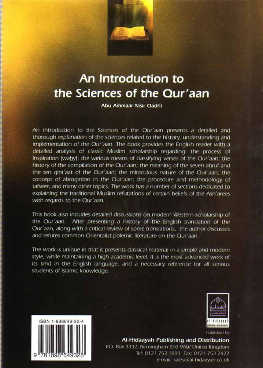 Sciences of the Quraan By Abu Ammaar Yasir Qadhi