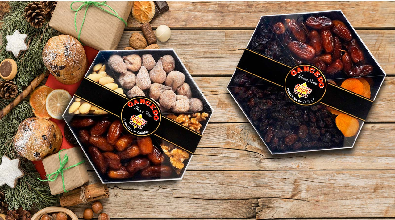 Holiday Dried Fruit & Nut mix variety tray from Spain