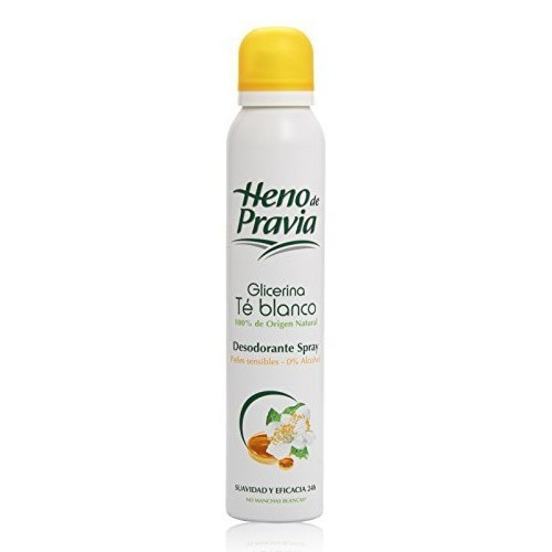 Heno de Pravia Deodorant in Spray with Glycerin & White Tea