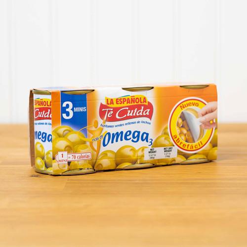 3-pack La Española Spanish Olives Stuffed with Anchovies Omega3