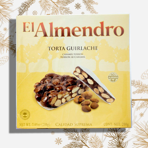 Crunchy Caramel Turron Guirlache round by El Almendro