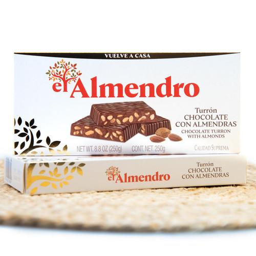 Chocolate Turron with Almonds by El Almendro